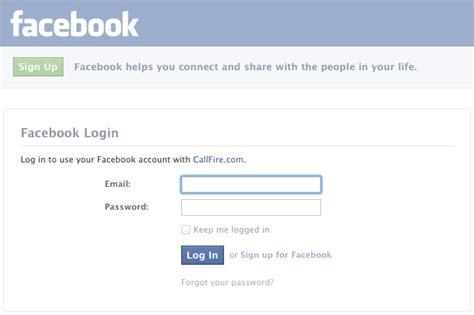 facebook log in facebook log in info