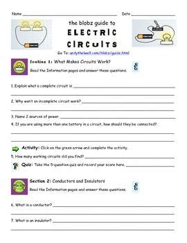 blobz electric circuits the world s catalog of ideas