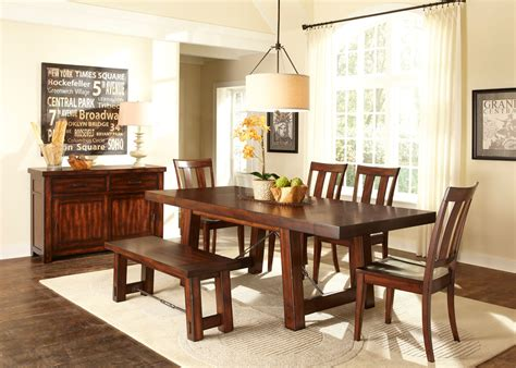Liberty Tahoe Trestle Table Dining Room Set   555   Furniture