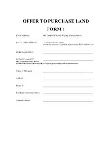 land offer to purchase fill online printable fillable