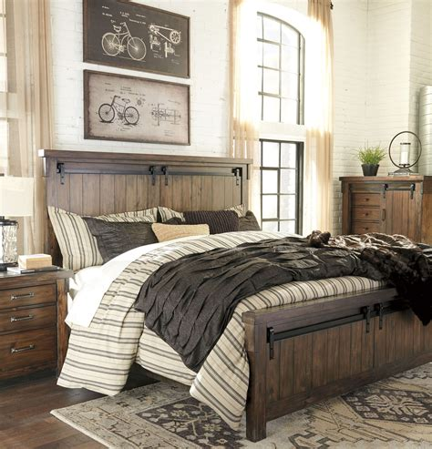 lakeleigh brown king panel bed  ashley coleman furniture