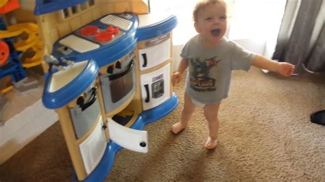 Homestyle Play Kitchen Reviews by Gavin S Reaction To His New American Plastics Homestyle