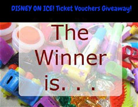 Disney On Ice Ticket Giveaway - winner announcement for disney on ice ticket vouchers giveaway for socal mrs kathy