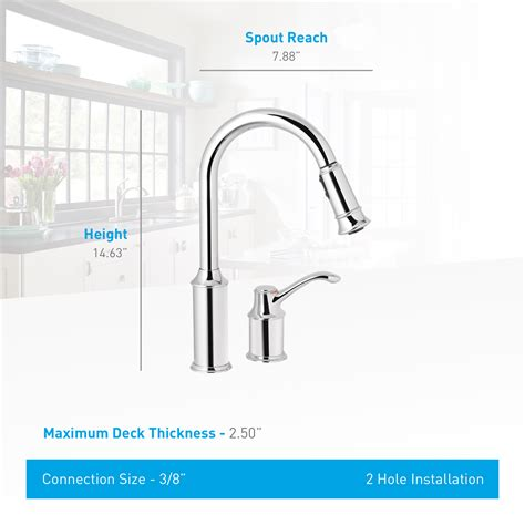 moen 7590orb aberdeen one handle high arc pulldown kitchen faucet com 7590orb in oil rubbed bronze by moen