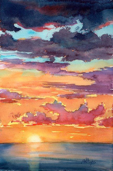 water color sunset williams quot sunset ii quot watercolour