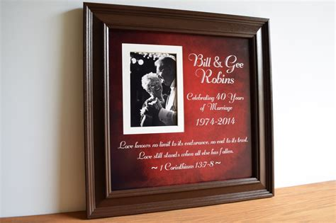 40th Wedding Anniversary Gifts by Anniversary Gift 40th Wedding Anniversary Parents