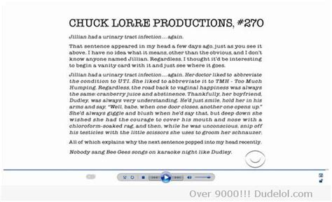 Chuck Lorre Vanity Card 255 by Chuck Lorre Uti And Beegees Songs