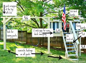 you build it plans our fifth house diy swing set playhouse