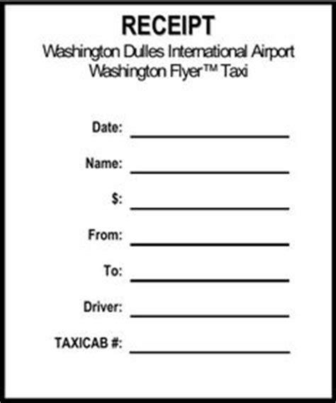 dc taxicab receipt template employment verification letter template templates forms