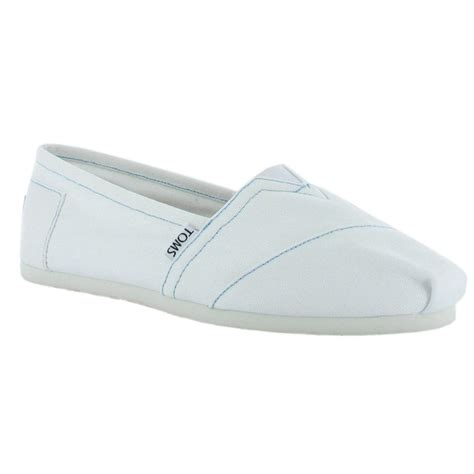 toms 2a07 canvas mens slip ons shoes white ebay