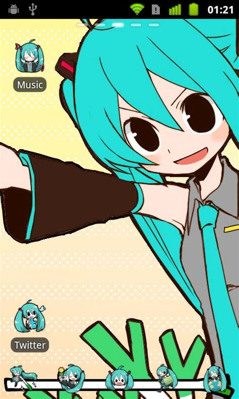 theme line android miku go launcher ex theme miku android apps on google play