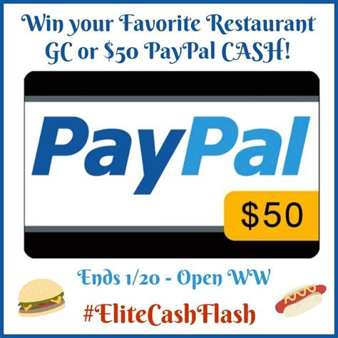 Restaurant Gift Cards Paypal - 50 paypal restaurant gift card giveaway world wide