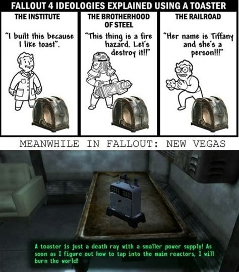 fallout 4 ideologies explained using a toaster by mrstweve