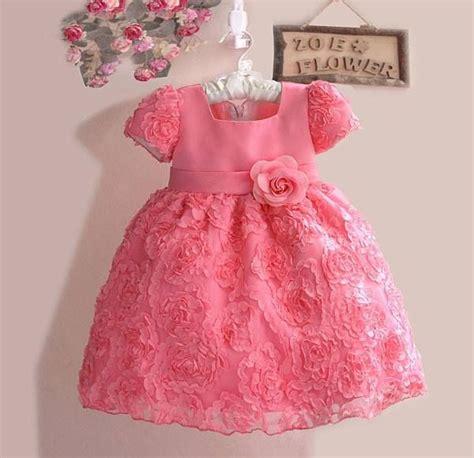 Zoe Pink Square Dress Anak jual baju anak zoe brukat bunga soft pink carissa