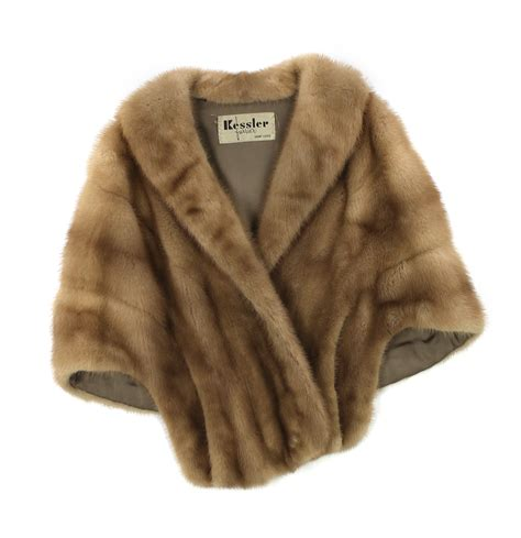 Get An Ermine Fur Cape Formerly Owned By Jean Harlow by T15 10242 Preowned Pastel Mink Fur Stole Cape