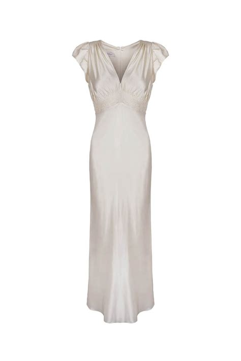 Vintage 30 S Wedding Dresses simple vintage wedding dress 30s vintage bias wedding