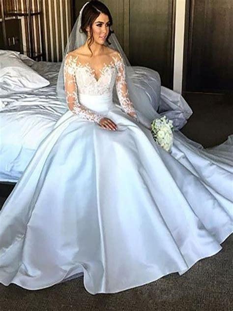 Robe De Mariée Marquise Manche Longue - robe de bal manches longues satin 233 tra 238 ne moyenne robes de