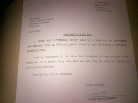 Acceptance Letter For Nysc Joshuabless S Posts