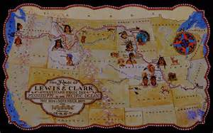 Lewis And Clark Route Map by I N K Maps Maps Maps