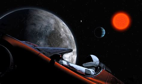 elon musk space end of the world elon musk s tesla spotted 500 000 miles