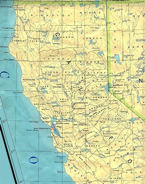 bases in california map northern california base map