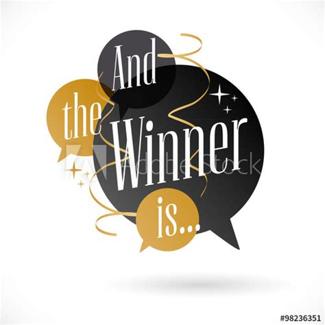 And The Wiiiiinner Is by And The Winner Is Buy This Stock Vector And Explore