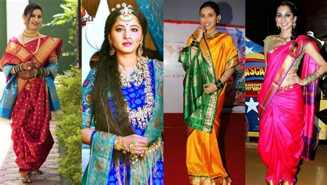 traditional saree draping styles how to wear a maharashtrian saree in 4 different types