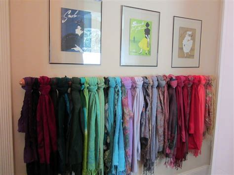 jo traveler creative way to display your scarf collection
