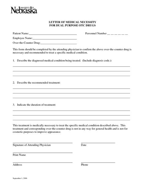 letter of necessity form best photos of ot necessity letter template