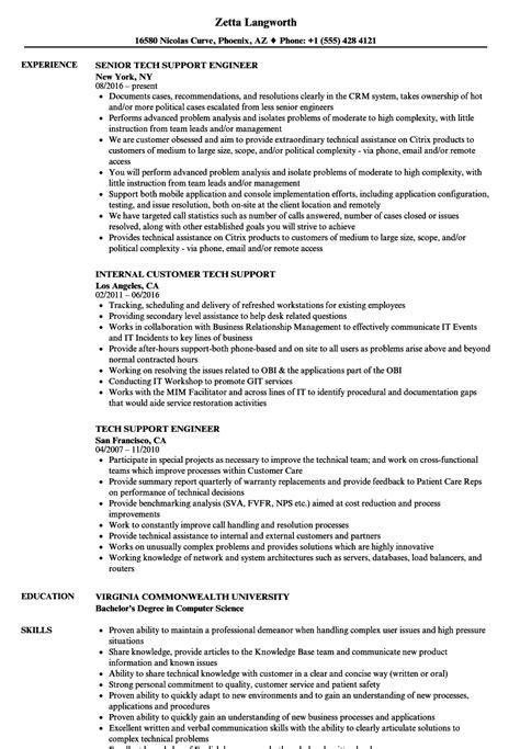 Tech Support Resume by Tech Support Resume Sles Velvet
