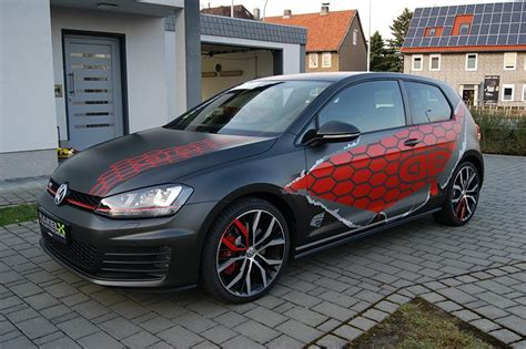 volkswagen germany vw golf 7 gti gets honeycomb wrap in germany