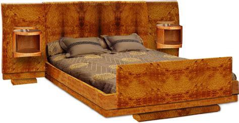 Impressionnant Tete De Lit Avec Chevets Incorpores #1: art-deco-mobilier-furniture-lit-bed-LIT6.jpg