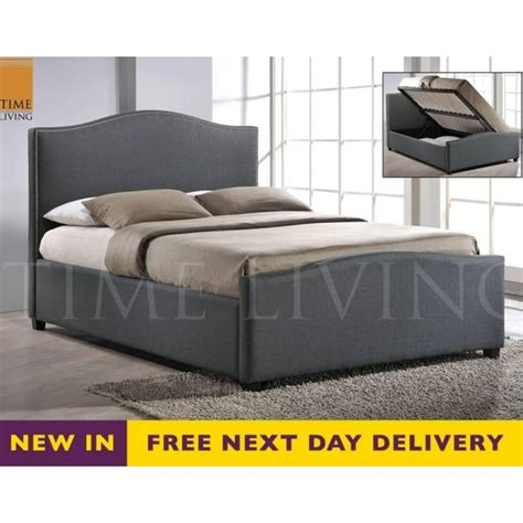 Grey King Size Bed With Mattress Pay For Later Brunswick 5ft King Size Grey Fabric Storage