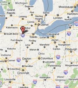 Map Of Michigan And Ohio by Similiar Detailed Map Of Ohio And Michigan Keywords