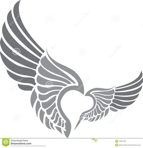 tattoo wings stock photo image 14567190