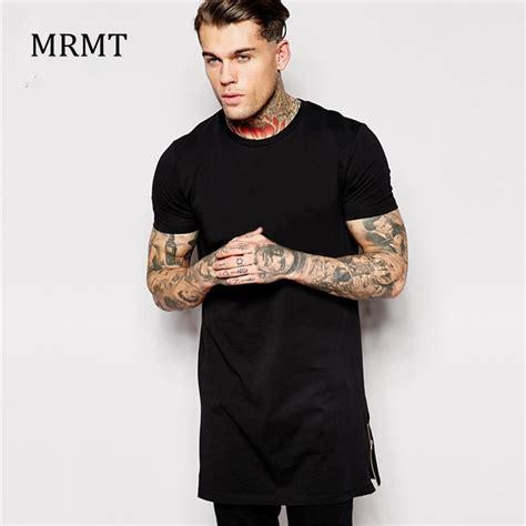 Longline Desist t shirt size black mens tops t shirt sleeve