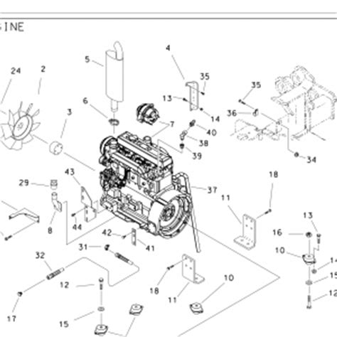 ditch witch parts diagram jt1720 hydraulic part 158 493