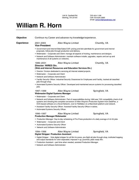 Resume Set Up by Resume Setup The Best Resume