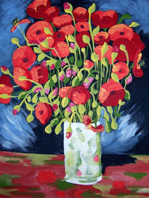 acrylic paint gogh vincent gogh paint by number kit of quot the poppies quot by