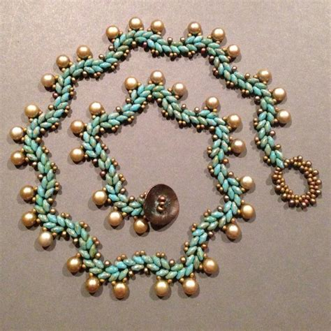 beth beading seed bead woven necklace beth superduo beaded