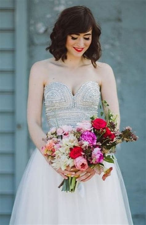 Wedding Hairstyles Strapless Dress by 73 Unique Wedding Hairstyles For Different Necklines 2017