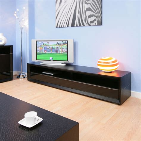tv stand with shelves large tv stand cabinet in black oak with drawer and shelf 2 2mt 906f ebay
