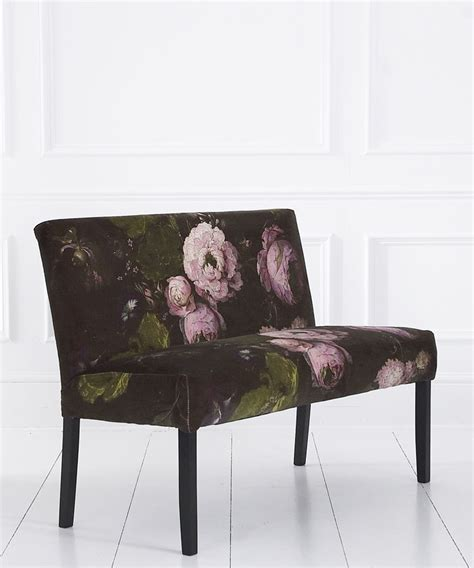 velvet banquette seating floralism peony velvet banquette