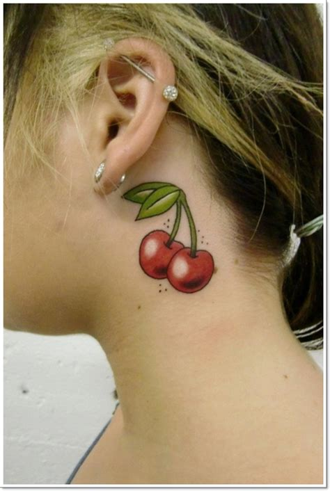 cherry tattoo behind ear meaning top 40 cute cherry tattoos for girls