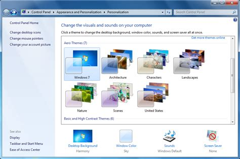 windows 7 background themes not working make your pc your own with the windows 7 personalization
