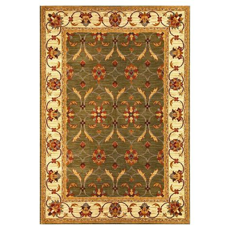 state rug kas rugs state of honor green ivory 5 ft 3 in x 7 ft 7 in area rug lif547053x77 the home depot