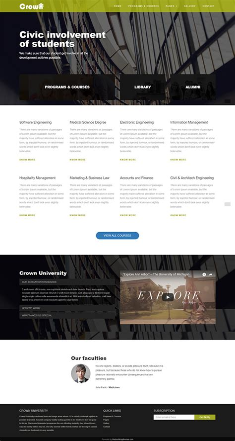 bootstrap templates for university 51 free bootstrap themes templates
