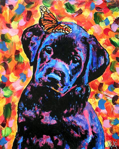 new painting service dogs take on new as artists models in