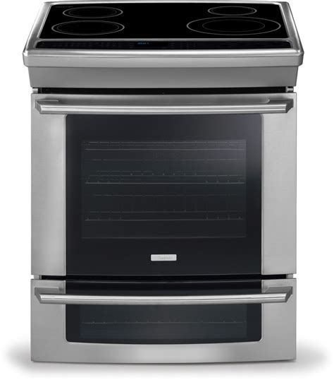 oven electric range with induction cooktop electrolux ew30is65js 30 inch slide in induction range