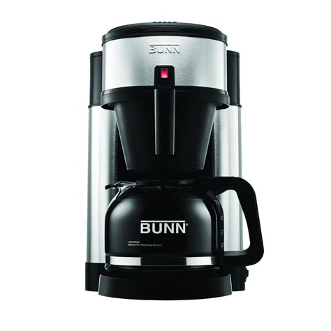shop bunn 10 cup stainless steel coffee maker at lowes com